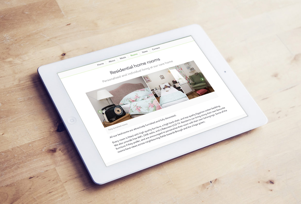 CMS driven website for boutique residential care home